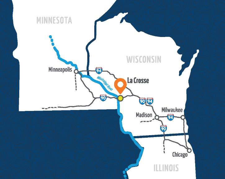 Tri-state interstate map